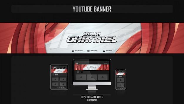 Baner dla kanału youtube z koncepcją dance