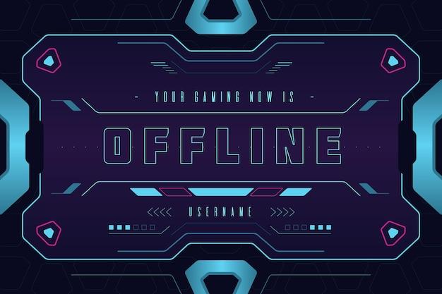 Baner dla offline platformy twitch w stylu gammer