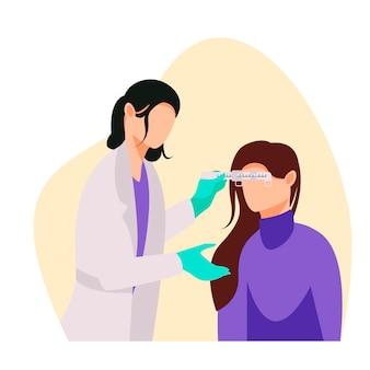 Baner do sprawdzania oczu w płaskiej konstrukcji