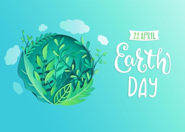 Baner dzień ziemi na obchody bezpieczeństwa środowiska
