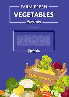 Baner ekologicznej uprawy warzyw