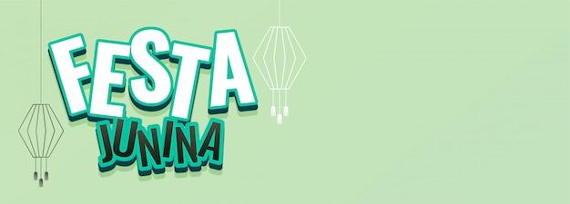 Baner festiwal festa junina z miejsca na tekst
