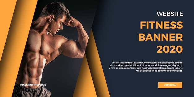 Baner fitness na stronie