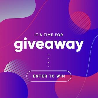 Baner gratisowy do quizu lub konkursu dla obserwujących lub subskrybentów w mediach społecznościowych