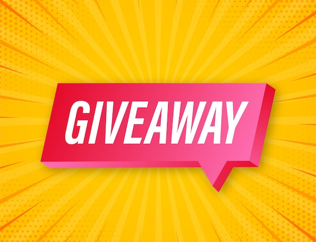 Baner gratisowy na konkursy w mediach społecznościowych i ofertę specjalną