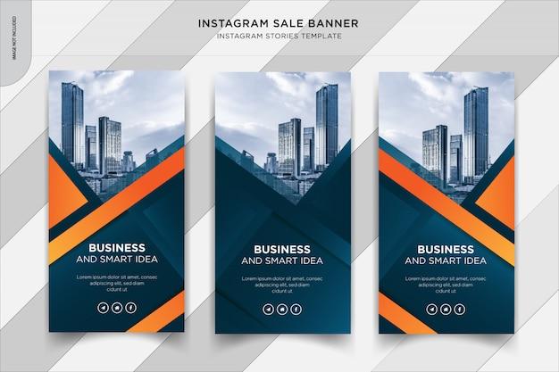 Baner historii biznesowych instapost, szablon postu w mediach społecznościowych