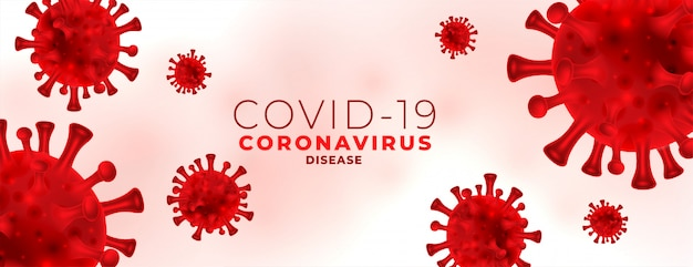 Baner infekcji koronawirusem czerwonymi krwinkami wirusa