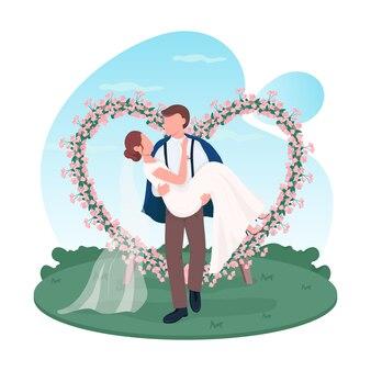 Baner internetowy 2d pary nowożeńców