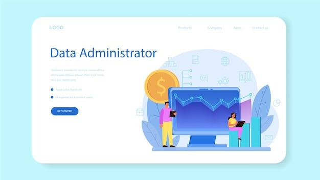 Baner internetowy administratora bazy danych lub strona docelowa