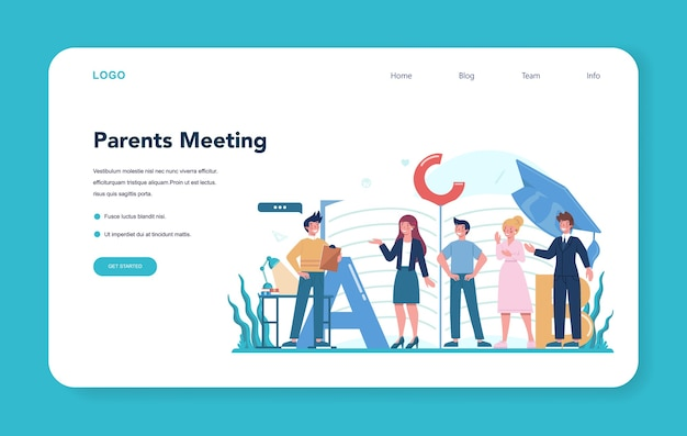 Baner internetowy dla nauczycieli lub strona docelowa