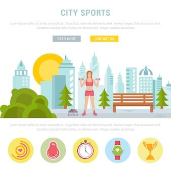 Baner internetowy fitness lub kulturystyka
