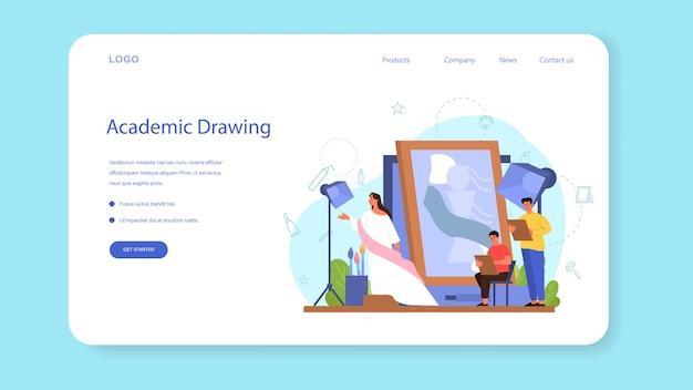 Baner internetowy ilustracja koncepcja artysty lub strona docelowa