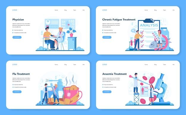 Baner internetowy lub lądowanie lekarza lub lekarza medycyny ogólnej