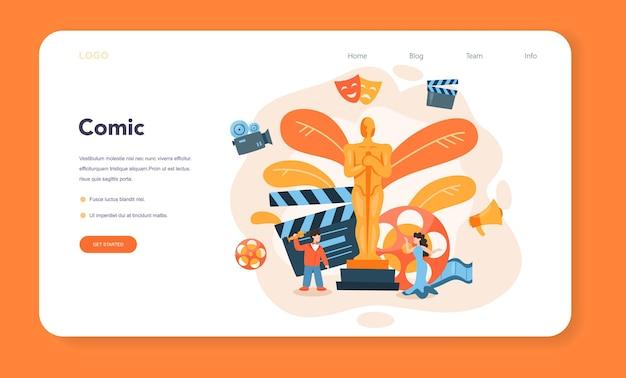 Baner internetowy lub strona docelowa aktora i aktorki