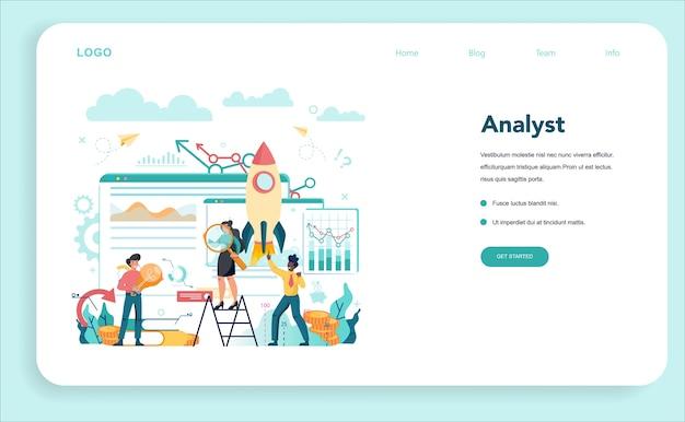 Baner internetowy lub strona docelowa analityka biznesowego