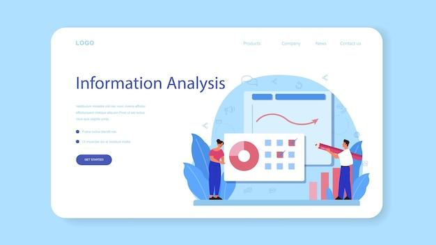 Baner internetowy lub strona docelowa analityka witryny