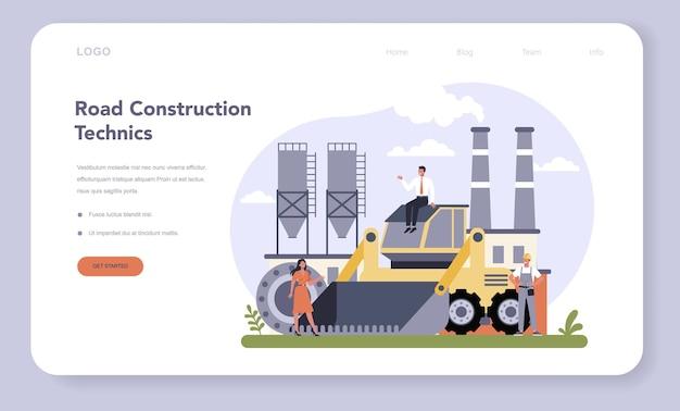 Baner internetowy lub strona docelowa branży budowlanej i inżynierskiej