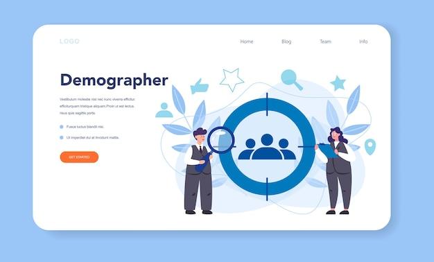 Baner internetowy lub strona docelowa demografa