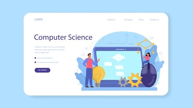 Baner internetowy lub strona docelowa edukacji informatycznej