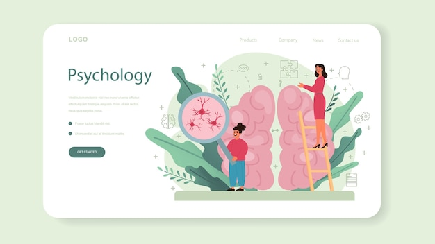 Baner internetowy lub strona docelowa psychologii