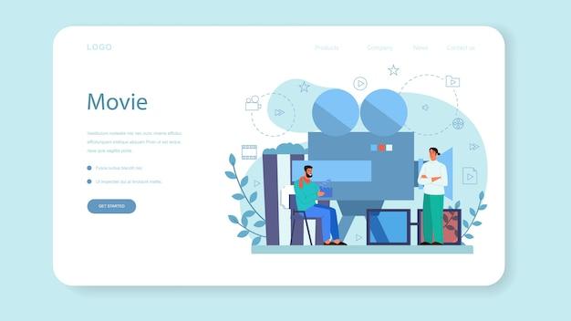 Baner internetowy lub strona docelowa reżysera filmowego