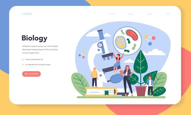 Baner internetowy lub strona docelowa szkoły biologii