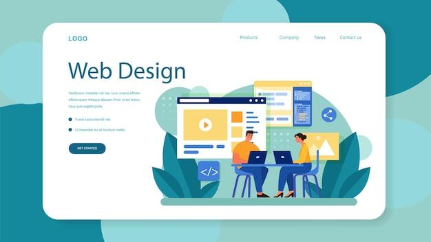 Baner internetowy lub strona docelowa w układzie strony
