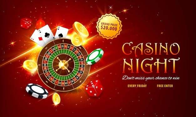 Baner internetowy ruletki kasyna internetowego, strona docelowa