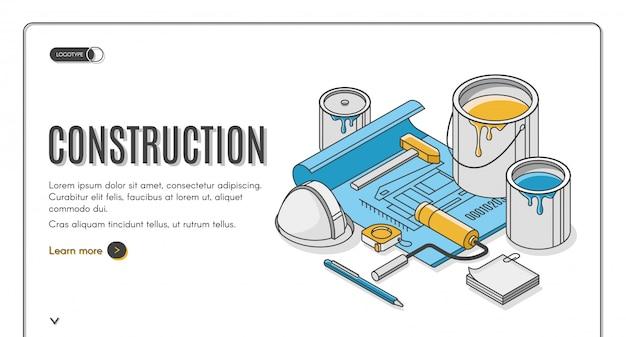 Baner izometryczny planu budowy