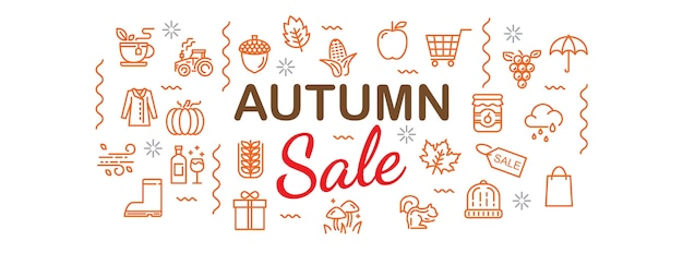 Baner jesień sprzedaży
