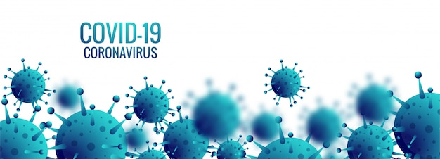 Baner komórek koronawirusa