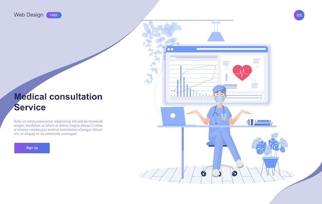 Baner konsultacji medycznych i opieki zdrowotnej