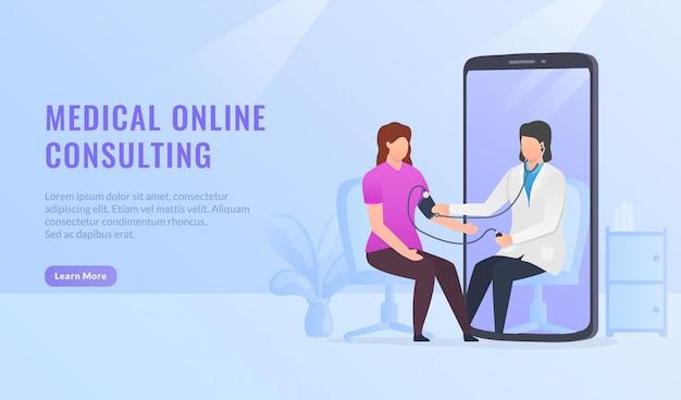 Baner konsultacji medycznych opieki zdrowotnej online