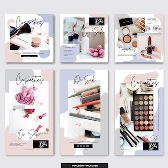 Baner kosmetyczny instagram w mediach społecznościowych