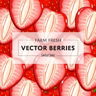 Baner kwadratowy owoców ekologicznej farmy