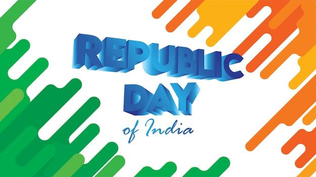 Baner lub ulotka na dzień republiki indii