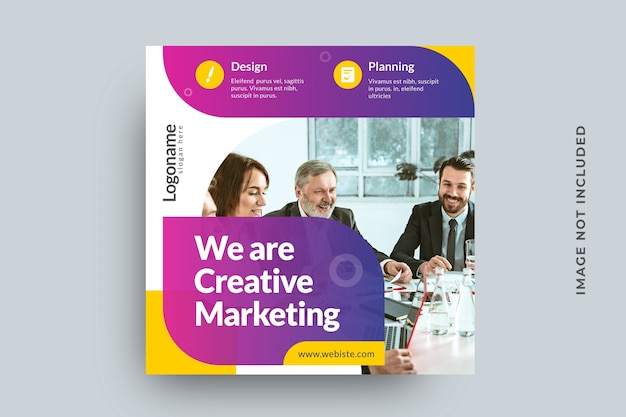 Baner mediów społecznościowych agencji marketingu cyfrowego