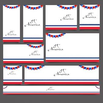 Baner mediów społecznościowych lub zestaw pocztowych urządzone