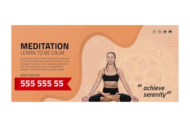 Baner medytacji i uważności
