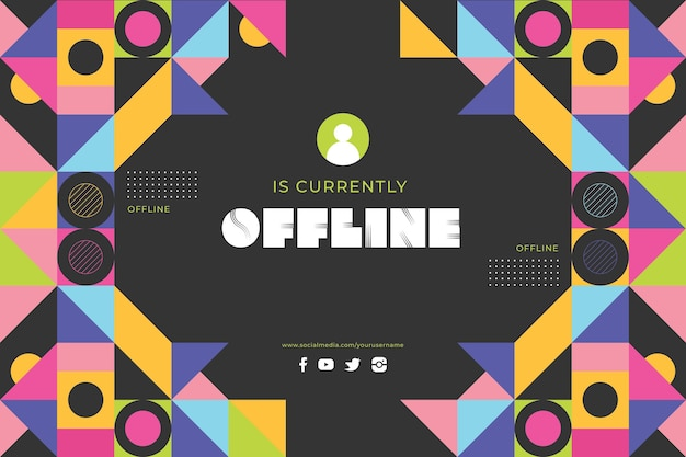 Baner memphis dla platformy twitch offline