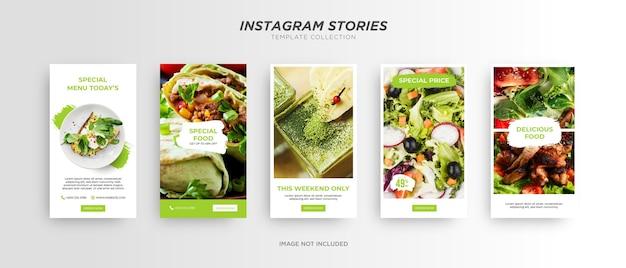Baner menu żywności. promocja w mediach społecznościowych