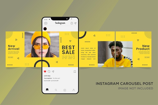 Baner mody dla szablonu karuzeli instagram premium