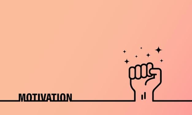 Baner motywacyjny. symbol biznesu, sukcesu i wsparcia. wektor na na białym tle. eps 10.