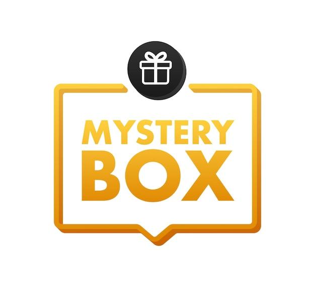 Baner mystery box opakowanie do projektu koncepcyjnego prezent niespodzianka projekt opakowania
