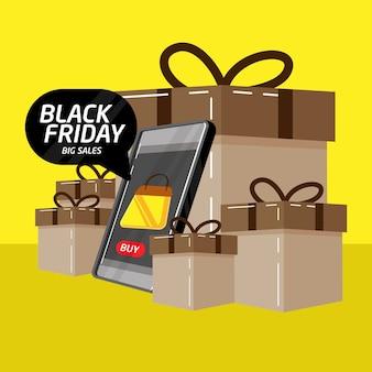 Baner na czarny piątek idealny dla sklepów internetowych