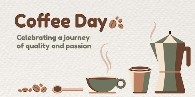 Baner na dzień kawy