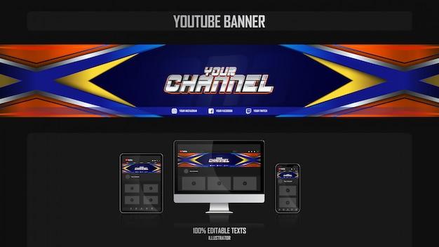 Baner na kanał youtube z koncepcją crossfit