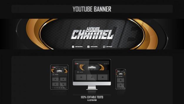 Baner na kanał youtube z koncepcją luksusu