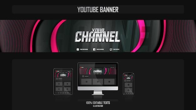 Baner na kanał youtube z koncepcją muzyki