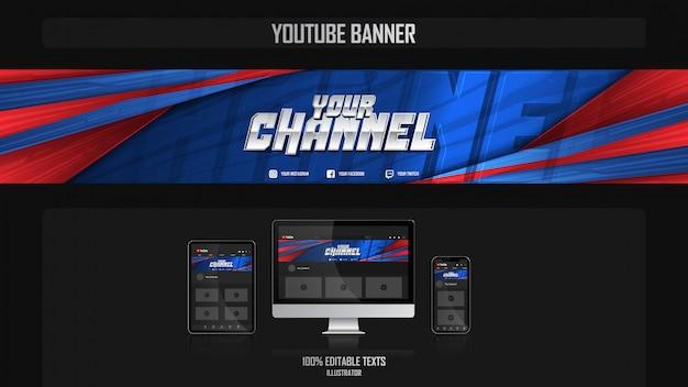 Baner na kanale youtube z koncepcją filmową